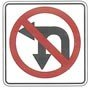 no u turn or left