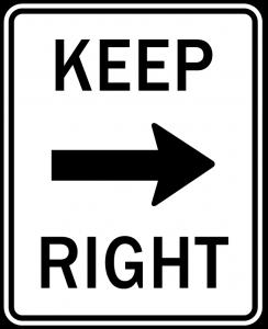 mantenerse derecha